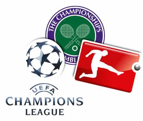 Logos von bekannten Sportevents