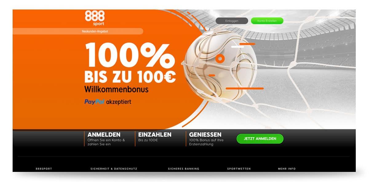 888sport 100€ Wettbonus
