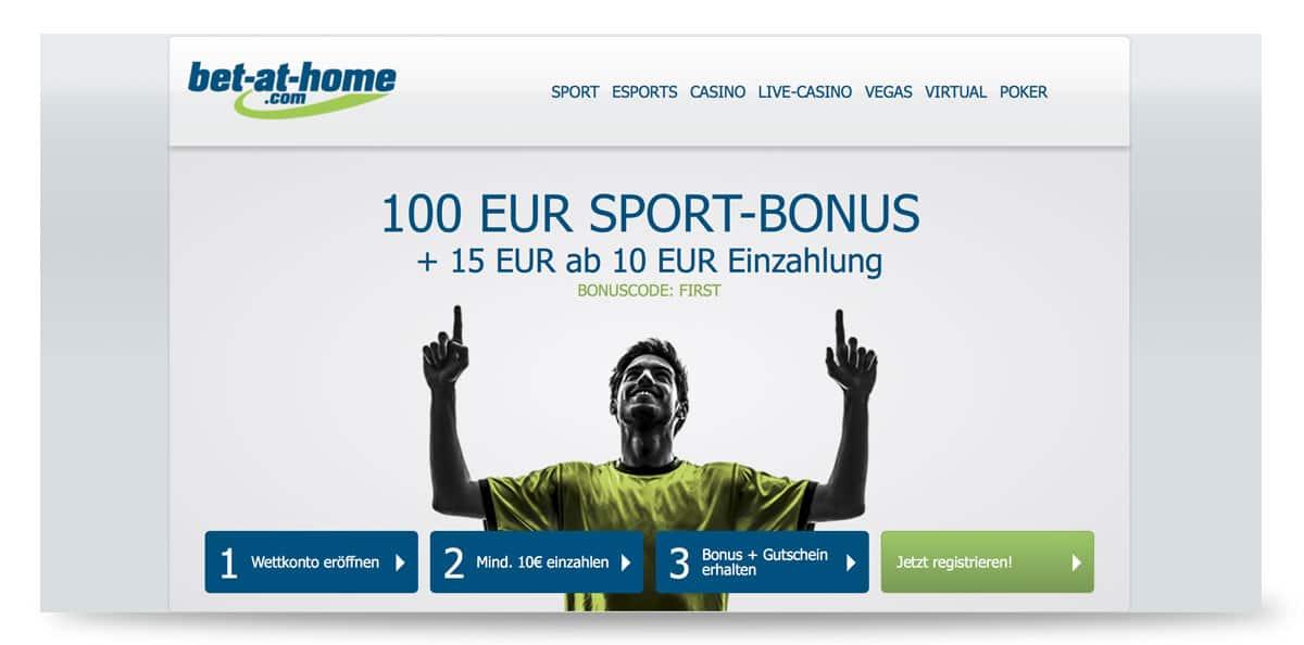 100€ Wettbonus von bet at home