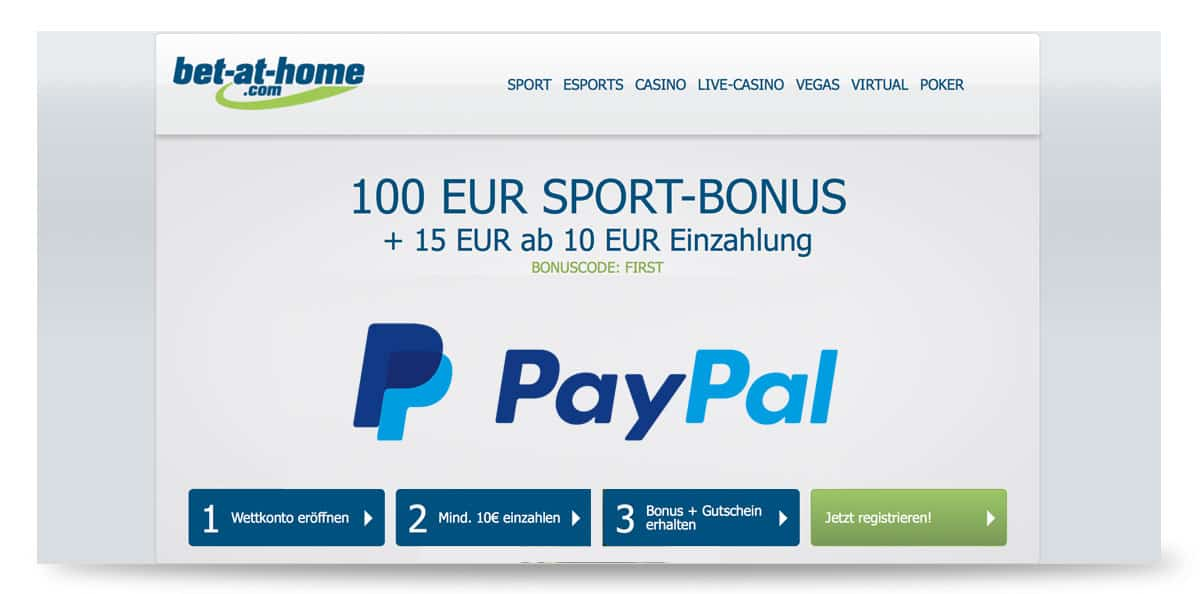 Paypal bei bet-at-home