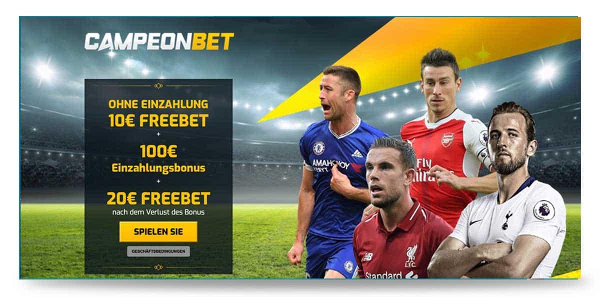 10 Euro Bonus ohne Einzahlung bei Campeonbet