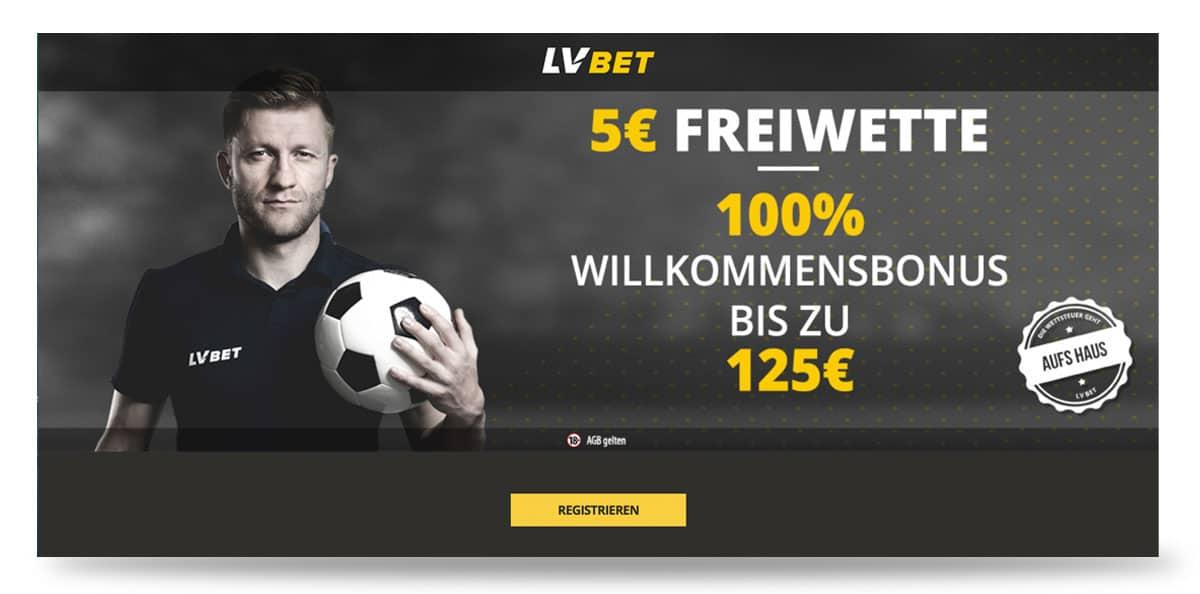 5 Euro Bonus ohne Einzahlung bei LVBet