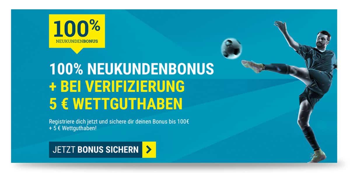 5 Euro Bonus ohne Einzahlung bei sportwettende