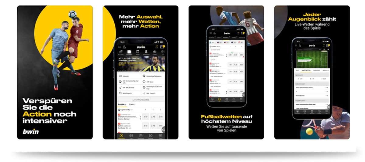 Vorschau der Bwin Sportwetten App