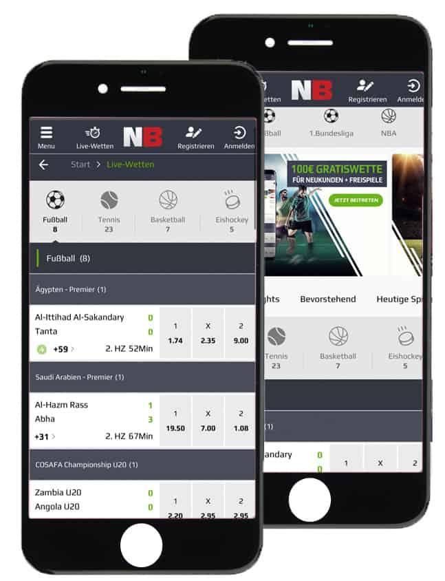 Sportwetten App von NetBet